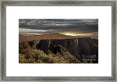 Canyon Twilight Framed Print