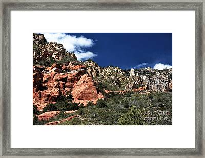 Canyon View Framed Print by John Rizzuto