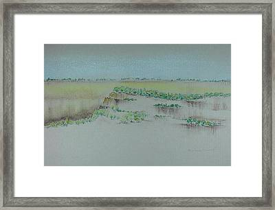 Framed Print featuring the pastel Canyon View by Michele Myers