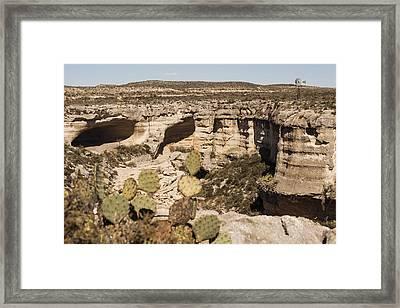 Canyon Windmill Framed Print