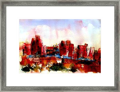 Framed Print featuring the painting Canyonlands 02 by Anne Duke