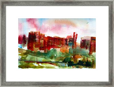 Framed Print featuring the painting Canyonlands 03 by Anne Duke
