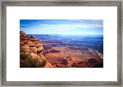 Framed Print featuring the photograph Canyonlands - A Landscape To Get Lost In by Peta Thames