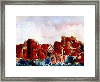 Framed Print featuring the painting Canyonlands by Anne Duke