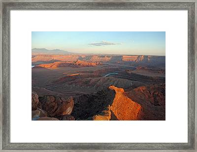 Framed Print featuring the photograph Canyonlands Np Dead Horse Point 21 by Jeff Brunton