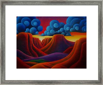 Canyonlands Framed Print by Richard Dennis