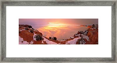 Canyonlands Winter Framed Print by Chad Dutson