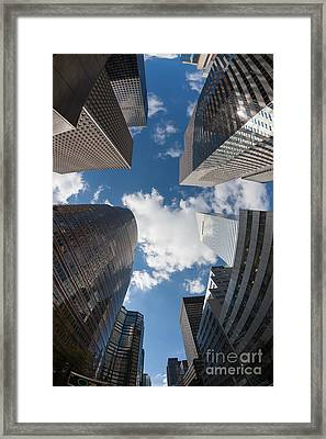 Canyons Of New York I Framed Print by Clarence Holmes