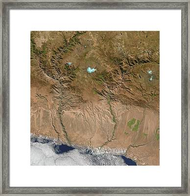 Canyons Framed Print by Us Geological Survey