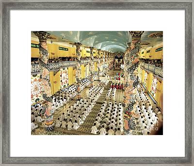 Cao Dai Grand Temple, Vietnam Framed Print by Paul Stepan