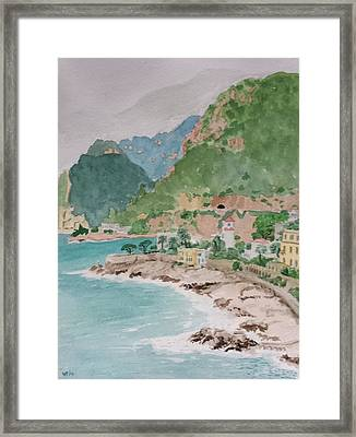 Cap D'ail After The Storm Framed Print