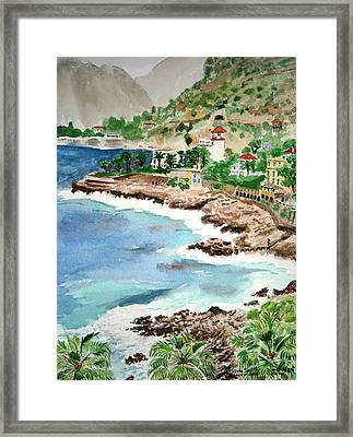 Cap D'ail On A Rainy Day Framed Print