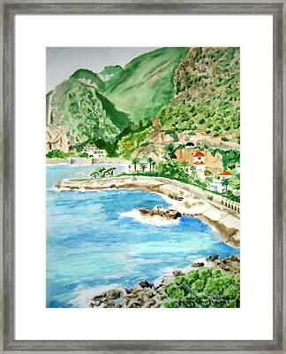 Cap D'ail On A Sunny Day  Framed Print