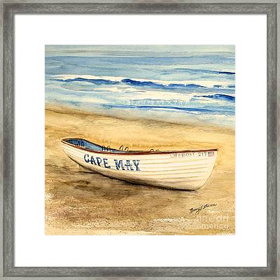 Cape May Lifeguard Boat - 2 Framed Print