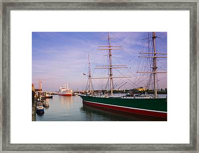 Cap San Diego And Rickmer Rickmers Framed Print by Panoramic Images
