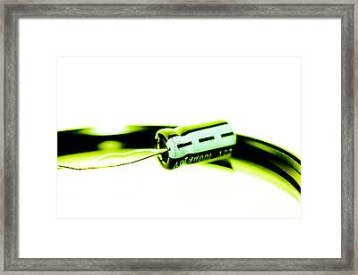 Capacitor Framed Print by Tommytechno Sweden