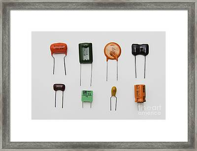 Capacitors Framed Print by GIPhotoStock