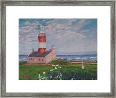 Cape Aghulas Lighthouse Framed Print