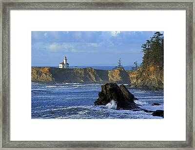 Cape Arago Lighthouse Framed Print by Daniel Woodrum