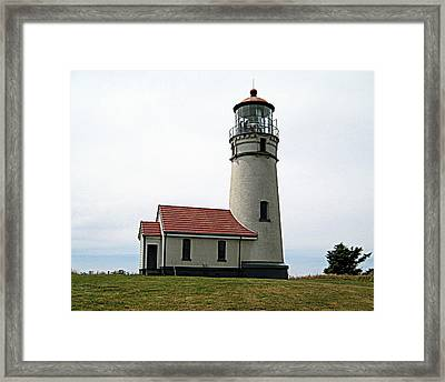Cape Blanco Lighthouse Framed Print by AJ  Schibig