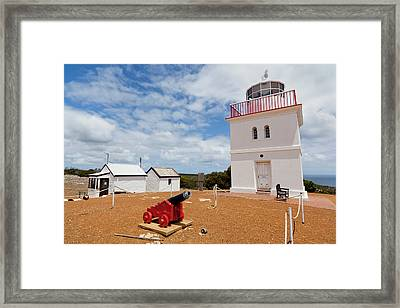 Cape Borda Light Station On Kangaroo Framed Print by Martin Zwick