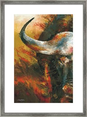 Cape Buffalo Framed Print by Christiaan Bekker