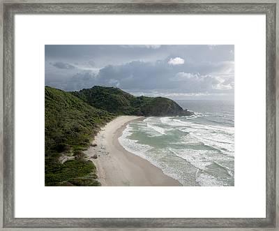 Cape Byron And The Byron Lighthouse Framed Print