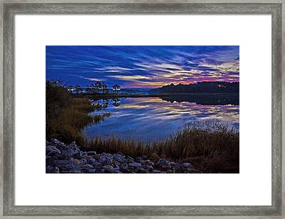 Cape Charles Sunrise Framed Print by Suzanne Stout