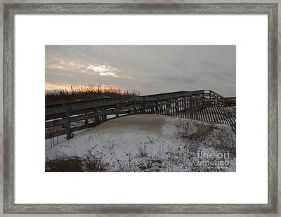 Cape Charles Winter Framed Print by Tannis  Baldwin