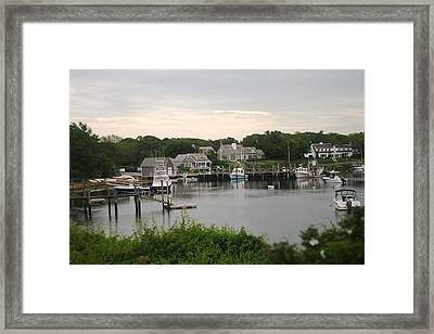 Framed Print featuring the photograph Cape Cod At Dusk by Suzanne Powers