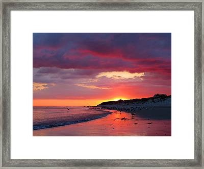 Cape Cod Bay At Sunrise Framed Print by Dianne Cowen