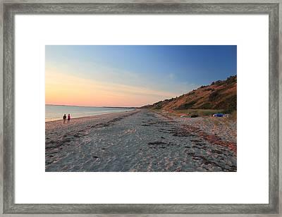 Cape Cod Bay Evening Beach Walk Framed Print by John Burk