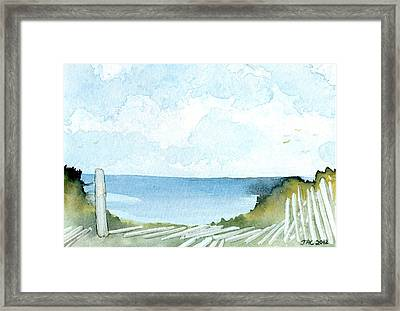 Cape Cod Bay Study #1 Framed Print