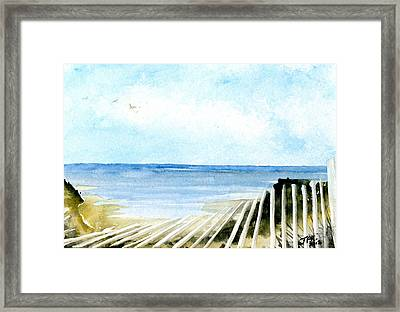Cape Cod Bay Study #2 Framed Print by Jennifer  Creech