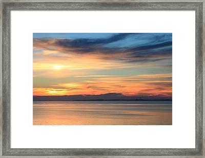 Cape Cod Bay Sunset Framed Print by John Burk