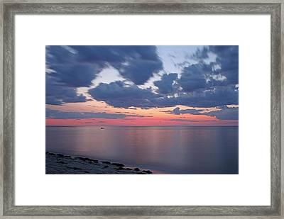 Cape Cod Bay Sunset Framed Print by Juergen Roth