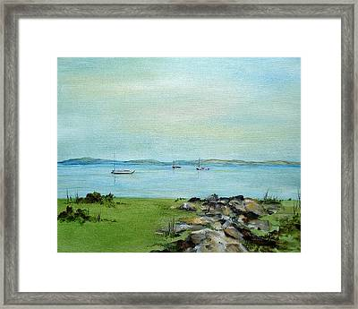 Cape Cod  Boats Framed Print