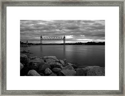 Framed Print featuring the photograph Cape Cod Canal Train Bridge by Amazing Jules