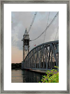 Cape Cod Canal Train Bridge Art Print Framed Print