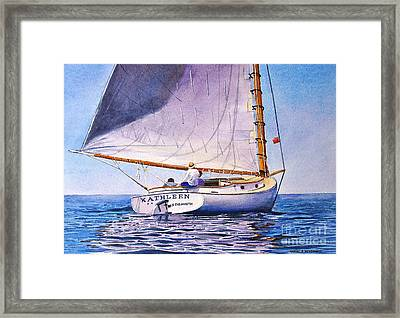 Cape Cod Catboat Framed Print
