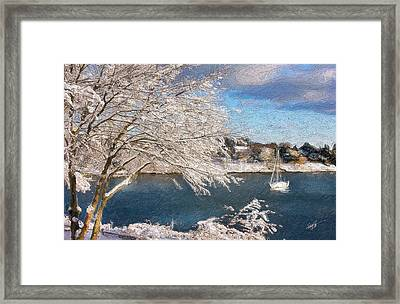 Cape Cod Christmas Framed Print