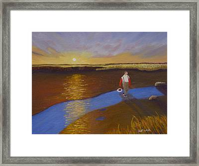 Cape Cod Clamming Framed Print