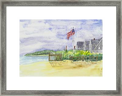 Massachusetts -cape Cod Cottages Framed Print