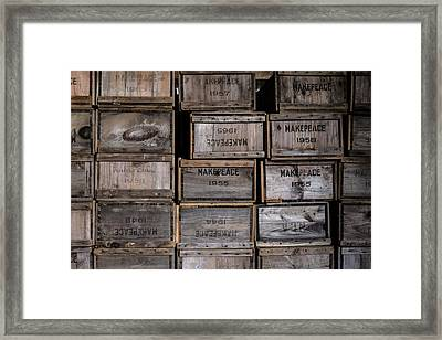 Cape Cod Cranberry Crates Framed Print by Andrew Pacheco