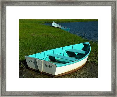 Cape Cod Dinghies Framed Print by Juergen Roth