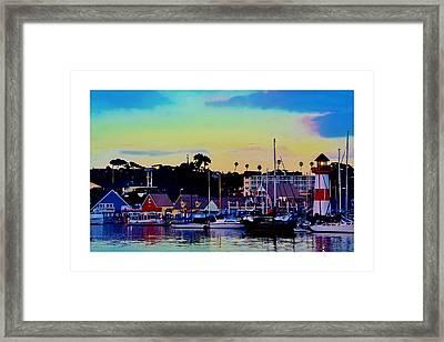 Cape Cod Harbor Framed Print