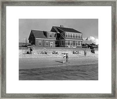 Cape Cod Home Framed Print by Underwood Archives