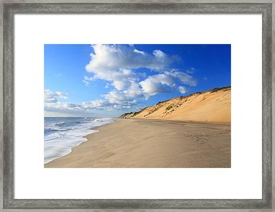 Cape Cod Ocean Beach Framed Print by John Burk