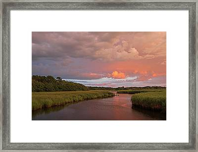 Cape Cod Summer Storm Framed Print