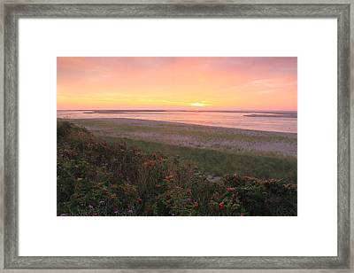 Cape Cod Sunrise At Lighthouse Beach Framed Print by John Burk